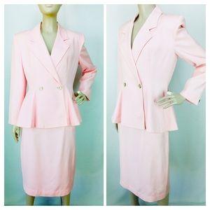 VTG Christian Dior Peplum Blazer Pencil Skirt Suit